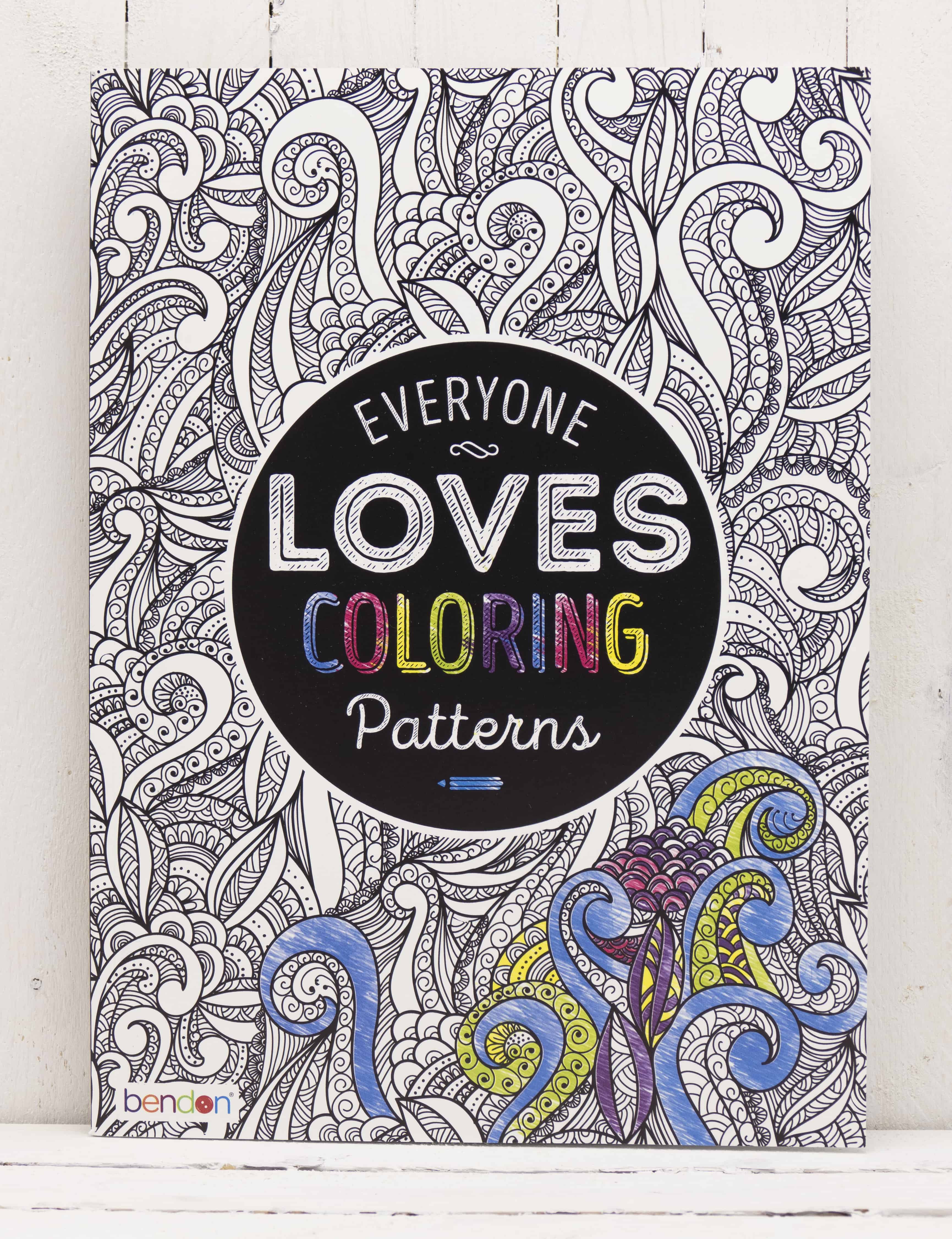 Adult coloring book Everyone Loves Coloring Patterns | DIYvinci
