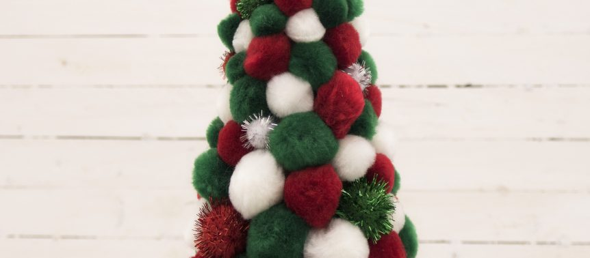 Kids Pom Pom Christmas Tree Kit