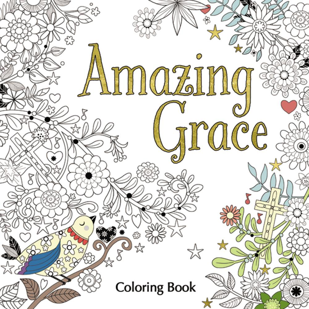 Interactive online adult coloring book - Amazing Grace Coloring Book
