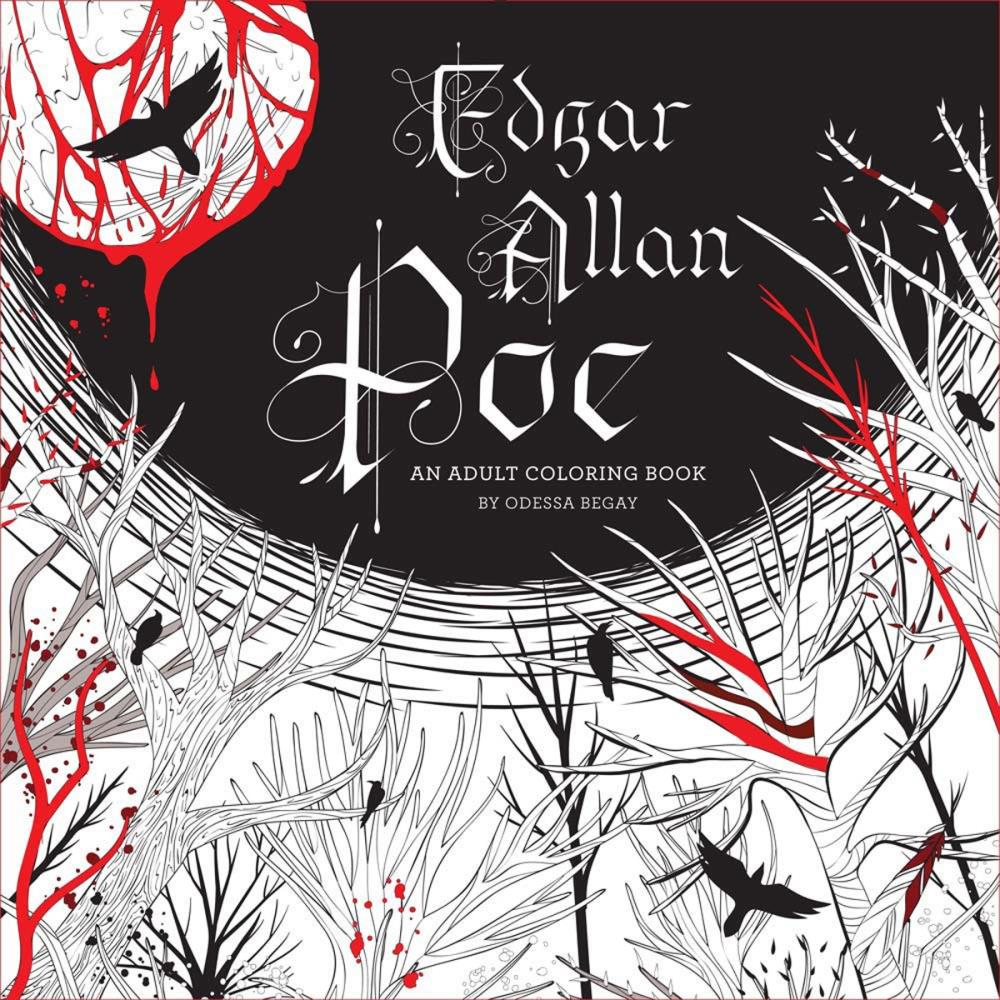 Edgar Allan Poe Adult Coloring Book 2 In Stock